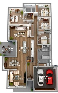 4 Bedroom House Plans - √ 16 4 Bedroom House Plans , 4 Bedroom Floor Plan with Balcony 5 Bedroom House Plans, 3d House Plans, Simple House Plans, House Layout Plans, Bungalow House Plans, Dream House Plans, Modern House Plans, Bungalow 5, Floor Plan 4 Bedroom