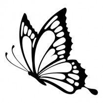 butterfly stencil sticker vlinder drawing tattoo stickers outline pretty vlinders stencils silhouette sketch vliegend tekening template mariposas decals clip papillon