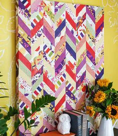 Chevrons of Fabric | 10 DIY Ways To Deck Out Your Walls