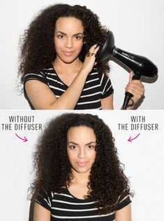 Use a diffuser paired with a low heat setting to define wavy or curly hair.