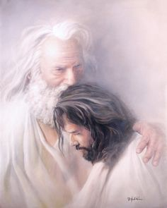 Father & Son - Christian art - No greater love or relationship between a father and son like that of God & Jesus. Jesus Christ Lds, Pictures Of Jesus Christ, Jesus Art, God Jesus, Savior, Pictures Of God, Jesus Pics, Images Of Christ, Children Pictures