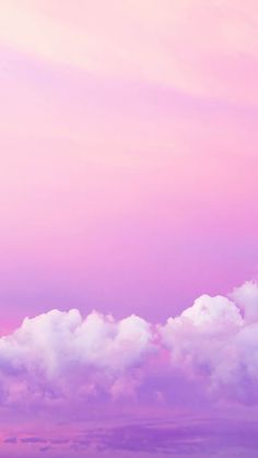 Pink clouds iPhone wallpaper