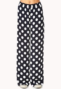 Dotted Wide-Leg Pants | FOREVER21 - 2000072266