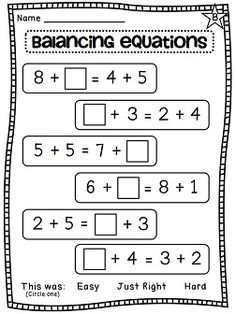 Balancing equations differentiated worksheets galore