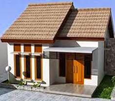 41 Simple Minimalist 1 Floor Model Homes -As we know that how to choose the latest home design models that we are always looking for buildin. Shed Design, Home Design Plans, Bungalow House Design, Modern House Design, Minimalis House Design, Type 45, Model House Plan, Latest House Designs, Facade House