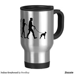 Italian Greyhound 15 Oz Stainless Steel Travel Mug