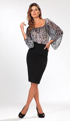 Print Blouse �32 Pencil Skirt �32 - From the Kardashian Kollection at Dorothy Perkins