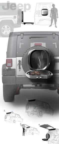 Jeep Grill and Canopy on Behance designed by Victoria Campbell #jeep #portable #product Repin & Like. Check #NoelitoFlow #Noel Music http://www.twitter.com/noelitoflow http://www.instagram.com/rockstarking http://www.facebook.com/thisisflow More