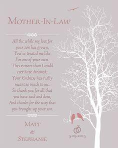 Wedding Gift For Mother In Law Future Laws Door GoldHousePrints