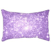 Lavender Purple Stars Dog Bed