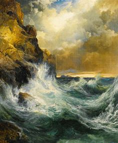 "Thomas Moran, ""The Receding Wave,"" 1909.  © Sotheby's"