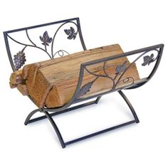 Grapevine Fireplace Wood Holder by Napa Forge at Timeless Wrought Iron