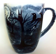 Made To Order  The Dark Trail  handpainted mug by InkyDreamz, $30.00