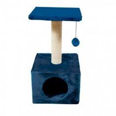"""Rascador poste para gatos """"Savanna Town"""" de NAYECO, color azul. Medidas: 30x30x60cm. Compra online en www.zazbuy.com. ENVIAMOS a domicilio a todas las Islas Canarias: Gran Canaria, Tenerife, La Palma, La Gomera, El Hierro, Fuerteventura, Lanzarote. #gatos #cats #mascotas #pets #rascadores #rascadoresgatos Cat Gym, Cat Towers, Cat Stands, Gatos Cats, Cat Scratcher, Pet Furniture, Homemade Dog Treats, Cat Supplies, Cat Tree"""