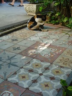 La Maison Boheme: Tile Floors for the Outdoor Room
