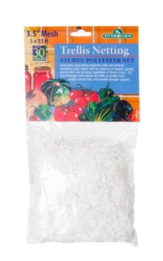 Netting - Pin it :-) Follow us :-)) zGardensupply.com is your Garden Supply Gallery ;) CLICK IMAGE TWICE for Pricing and Info SEE A LARGER SELECTION of netting at  http://zgardensupply.com/category/garden-supply-categories/garden-structures/netting/ - garden, gardening, gardening gear  -   Hydrofarm – Trellis Netting 3.5″ Mesh, 5′x15′ « zGardenSupply