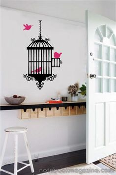 Bird & Cage Vinyl Wall Decal Stickers Room Decor | eBay