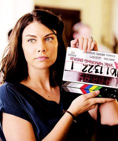 "Lauren Cohan behind the scenes 5x13 ""Forget"""