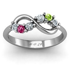 love this birthstone infinity ring