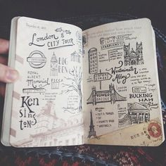 Travel Diaries: Europe Travel journal showcase featuring freehand lettering and. - Travel Diaries: Europe Travel journal showcase featuring freehand lettering and illustrations I di - Art Bullet, Bullet Journal Travel, Travel Journals, Travel Books, Travel Sketchbook, Travel Scrapbook, Bullet Journal Inspiration, Smash Book, Journal Pages