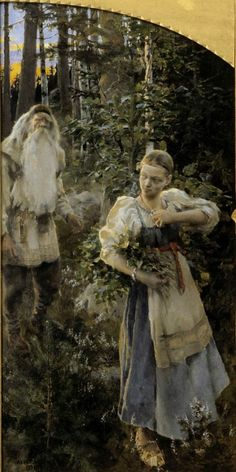 Akseli Gallen-Kallela – The Legend of Aino (left panel) (1891)