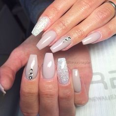 Sparkly and nude grey