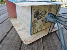 Beach Fold Over Box Splitcoaststamper Craftisan Studios Kim Rippere  #paper #crafting #papercrafting #box #diybox #diygiftwrap #giftwrap #video #tutorial #foldoverbox #canvascorpbrands #beach #ocean #ribbon