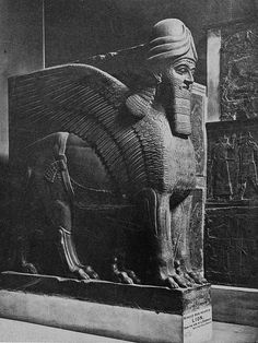TO SAVE OUR HISTORY. Winged bull from the palace of the Assyrian King Nimroud