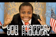 Watch Kid President every day to teach kids that they matter!!!! #SimplyKinder Great for Kindergarten!