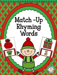 Christmas+Rhyming+Do+your+students+need+more+practice+identifying+rhyming+words?++This+Christmas+Match-Up+is+for+you!++Students+will+match+a+rhyming+picture+on+a+gift+card+to+a+rhyming+picture+on+Santas+gift+bag+card.+(Santa+is+NOT+pictured).++There+are+38+rhyming+card+sets.