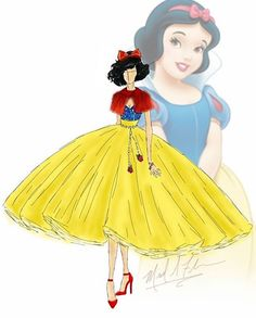 michael anthony couture disney princesses fashion illustrations