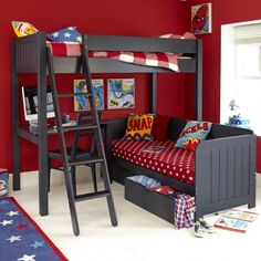 Warwick high sleeper with day bed
