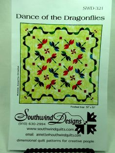 Dance of the Dragonflies Quilting Pattern by by Allyssecondattic, $5.00