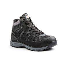 Dickies Fury EXO-Lite Men's Mid-Top Steel-Toe Work Shoes, Size: medium (8.5), Black