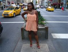 Outfit of the Day: Peach Pleated Dress - www.yannid.net #fashionblog #styleinspiration #ootd