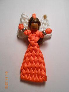 Orange Angel (Paracord) by BraceletsAndBobbles on Etsy