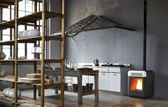 pellet stove, Thema model from mcz.com, Italy