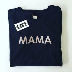 MAMA  GLITTER TEE