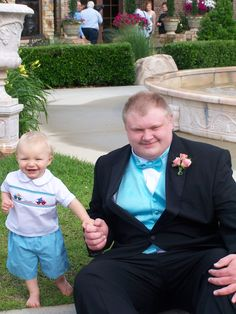Liam and Bubba. NHS prom 2013