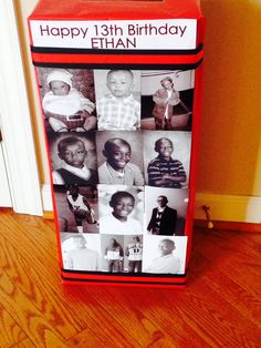 Card box sporting pic from every year.