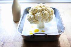 Whole Roasted Cauliflower with Tahini Sauce and Sumac