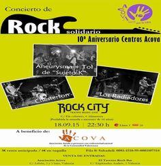 Concierto de rock solidario - 10º aniversario Centros ACOVA http://www.woodyjagger.com/2015/09/concierto-de-rock-solidario-10-aniversario-centros-acova.html