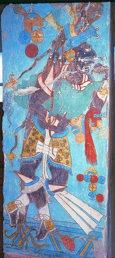 Cacaxtla, Tlaxcala, Mexico: Room 1, right doorjamb