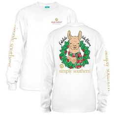 NEW Simply Southern Long Sleeve Tees- Christmas Llama