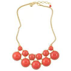 honeymoon worthy statement necklace in coral by loren hope