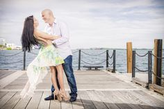 Sunset on the Bay. Engagement photoshoot Downtown Miami. South Florida Wedding Photographer Pedro Pages