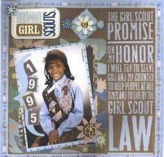 Brownie Girl Scouts scrapbook page