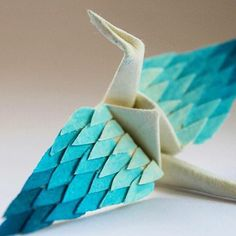 Cristian Marianciuc Creates a New Decorated Origami Paper Crane Daily for Days Origami Paper Crane, Paper Crafts Origami, Origami Art, Paper Cranes, Paper Crafting, Origami History, Origami Leaves, Paper Pop, Traditional Artwork
