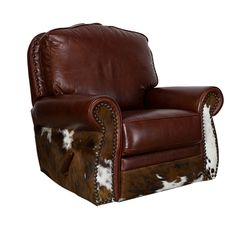 Leather /Cowhide Glider-Swivel Recliner