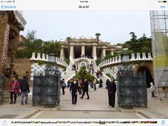 Parc Guell in Barcelona Spain !